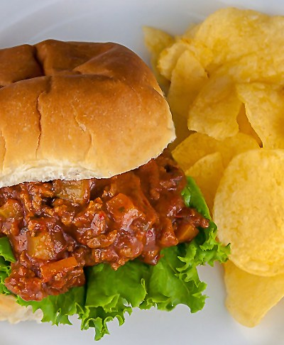Gluten Free Mexican Flavored Sloppy Jose Sandwiches © 2016 Jane Bonacci, The Heritage Cook