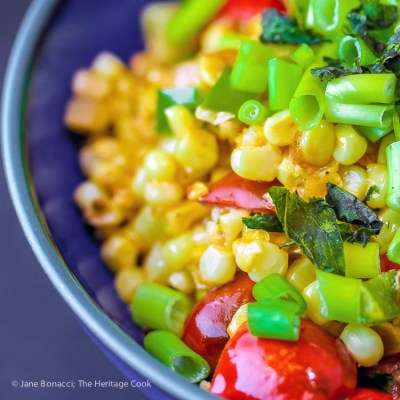Gluten Free Creamed Corn and Tomatoes (Maque Choux)