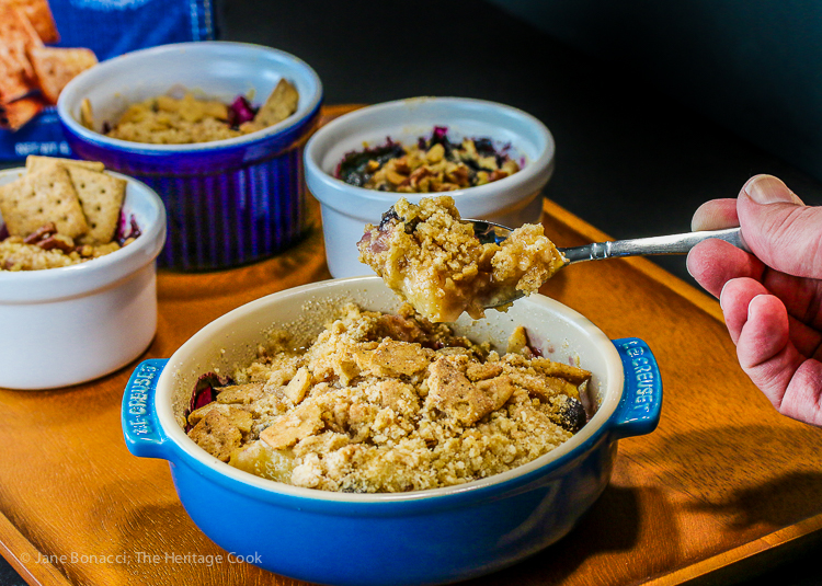 Who wants the first bite; Nectarine and Berry Cinnamon Crisps with Gratify Foods, Gluten Free Recipe; © 2016 Jane Bonacci, The Heritage Cook