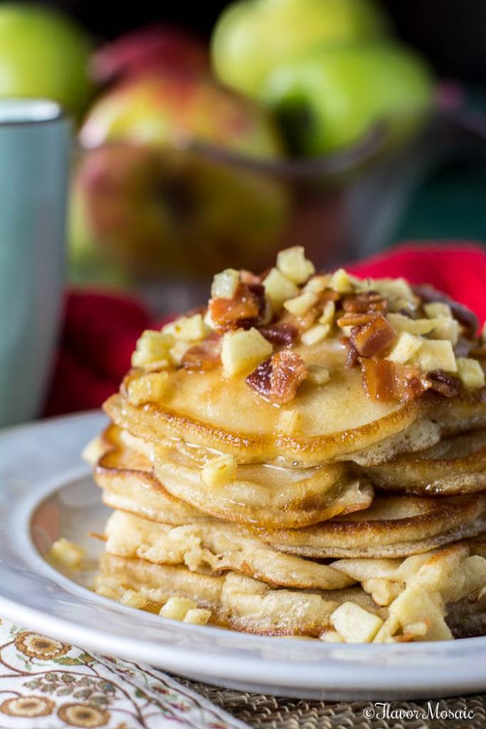 apple-maple-bacon-pancakes-for-breakfast-3; Apples for Breakfast & Brunch Round Up 2016