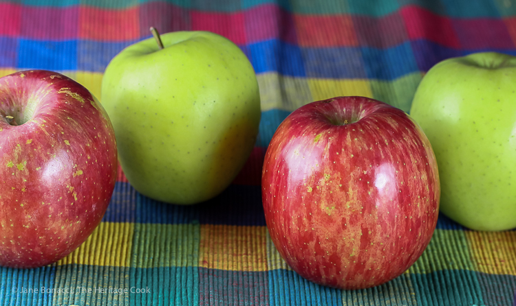 Apple Line Up; 2016 Jane Bonacci, The Heritage Cook