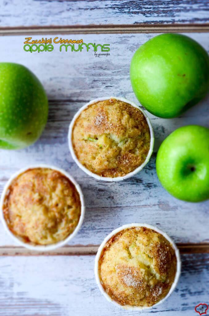 zucchini-cinnamon-apple-muffins-1; Apples for Breakfast & Brunch Round Up