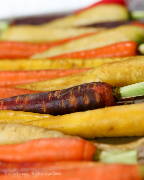Tri-Color Carrots ready for cooking; Tips and Recipes for a Fun and Delicious Thanksgiving Part 2; Jane Bonacci, The Heritage Cook