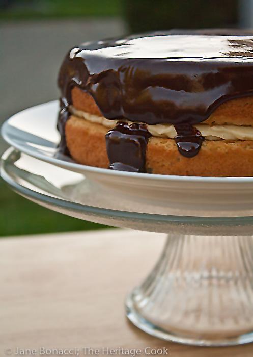 boston-cream-pie © Jane Bonacci, The Heritage Cook, all rights reserved