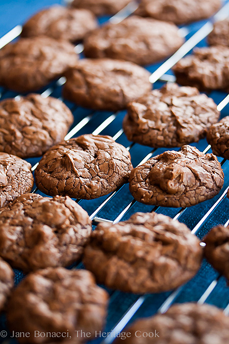 Chocolate Brownie Cookies © Jane Bonacci, The Heritage Cook, all rights reserved