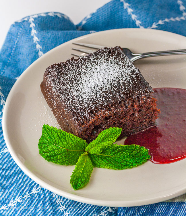 how to make raspberry sauce for cake