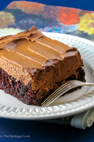 Chocolate Sheet Cake with Chocolate Caramel Frosting (Gluten-Free)