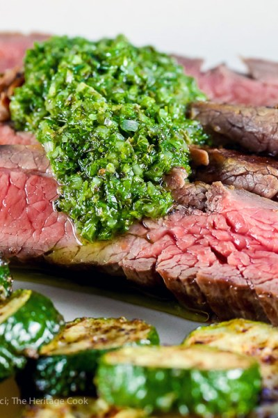 Flank Steak with Chimichurri Sauce (Gluten-Free)
