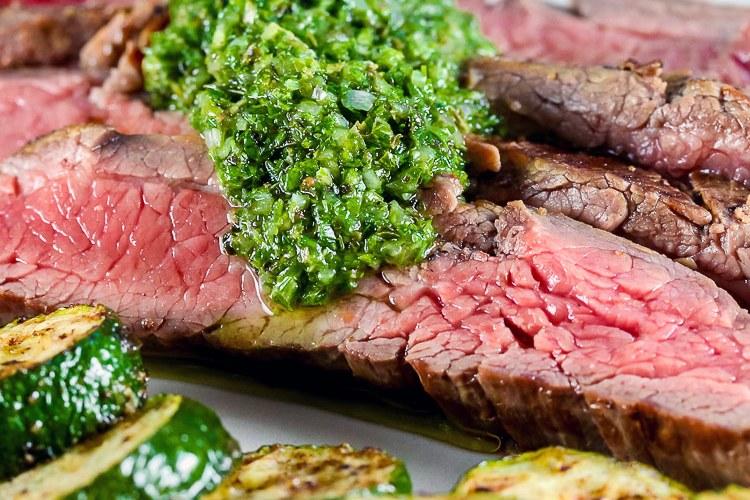 Flank Steak with Chimichurri Sauce (Gluten-Free)