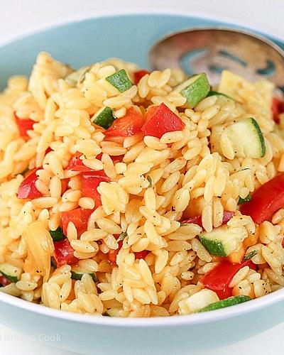 Gluten Free Summer Orzo Pasta Salad