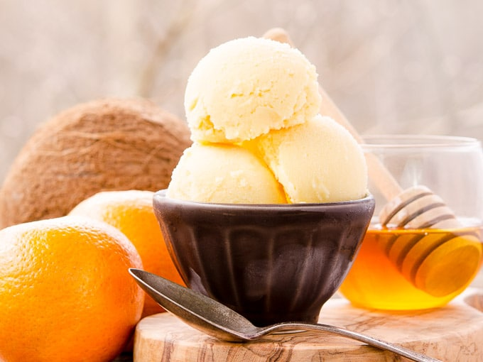Collection of the Best Ice Cream, Sorbet, and Yogurt Recipes from Jane Bonacci, The Heritage Cook; photo courtesy of Katie from Recipe for Perfection