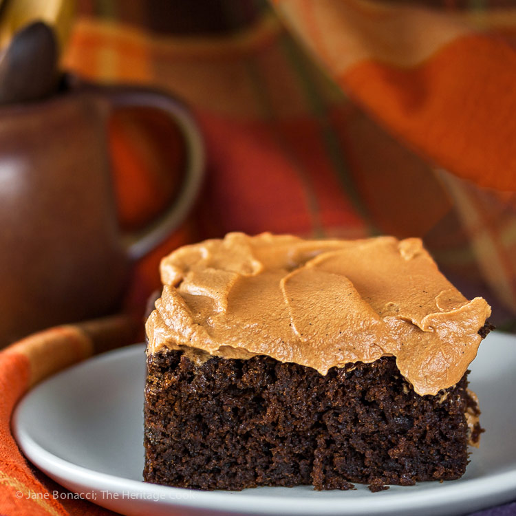 Mimi's Red Devil's Food Cake with Butterscotch Icing © 2017 Jane Bonacci, The Heritage Cook