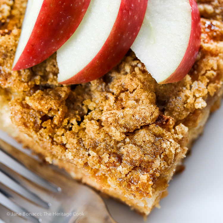 Apple Crumb Coffee Cake Gluten Free The Heritage Cook