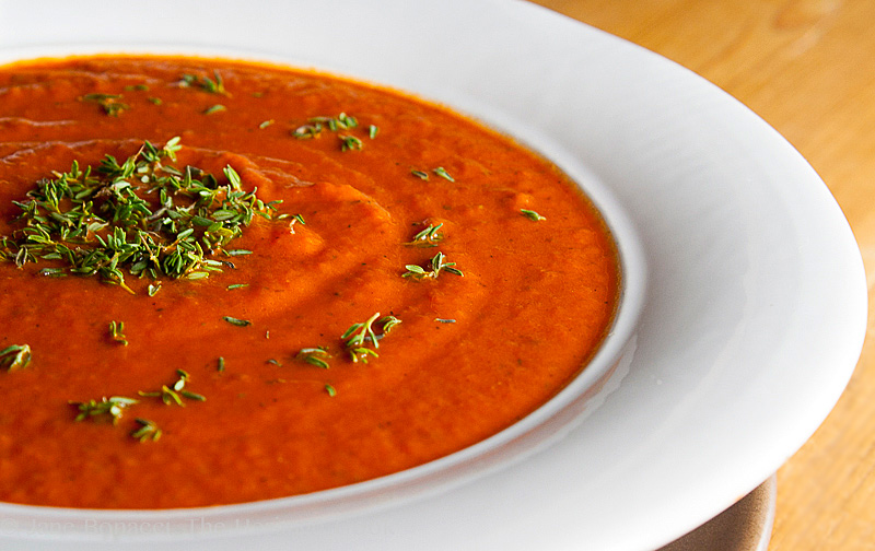 Creamy Italian Tomato Soup for Blustery Days © 2017 Jane Bonacci, The Heritage Cook