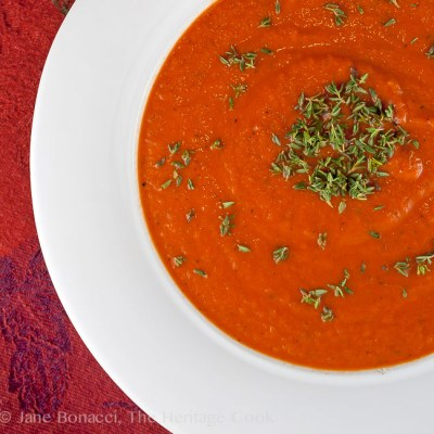 Creamy Italian Tomato Soup (Gluten-Free)
