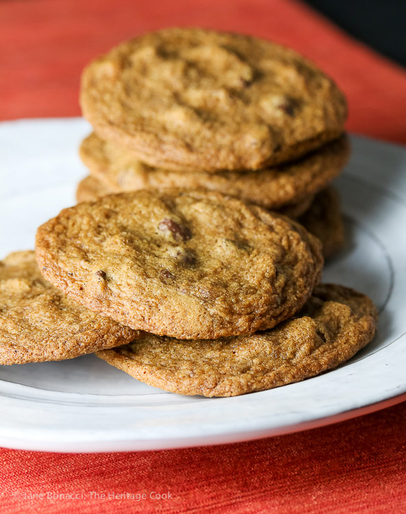 Mocha Chocolate Chip Cookies (Gluten-Free) © 2017 Jane Bonacci, The Heritage Cook