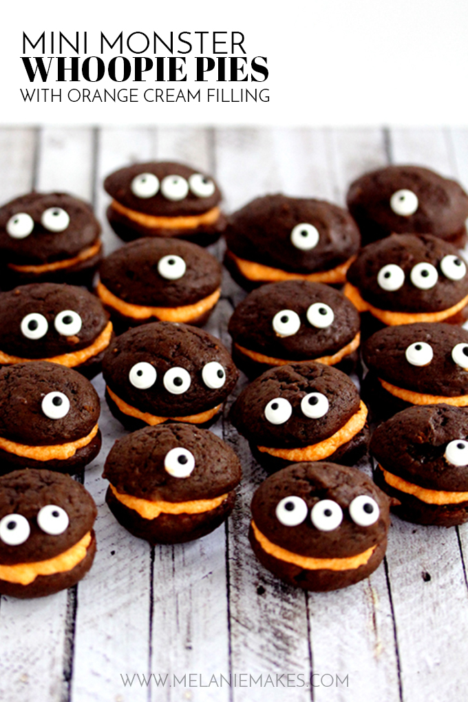 Mini Monster Whoopie Pies; Spooky Halloween Treats collection; Jane Bonacci, The Heritage Cook 2017