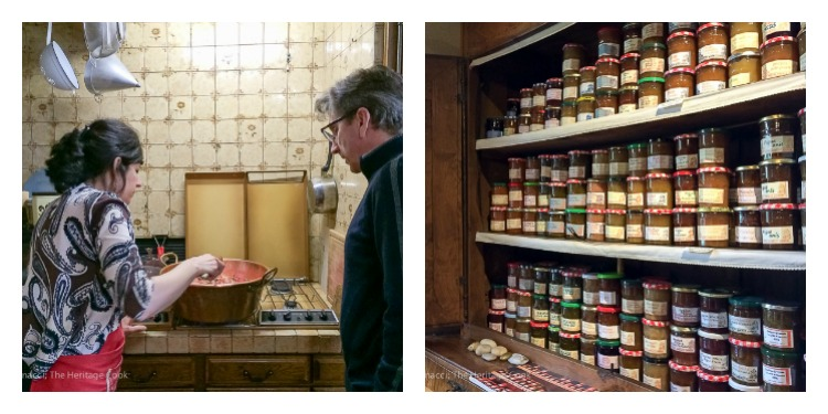 Jamie and The Artist making jam in Chinon; Oranges in Spiced Wine Syrup and Scenes from Chinon © 2018 Jane Bonacci, The Heritage Cook