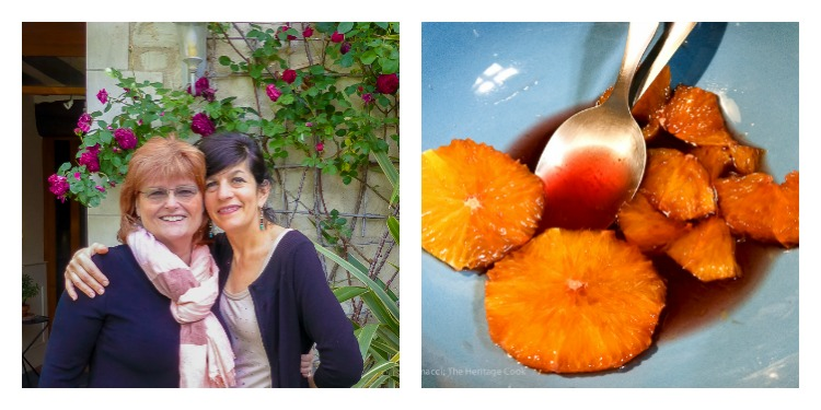 Oranges in Spiced Wine Syrup and Scenes from Chinon © 2018 Jane Bonacci, The Heritage Cook