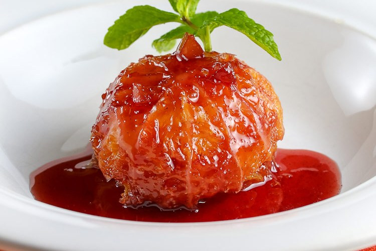 Oranges in Spiced Wine Syrup and Giveaway of Orange Appeal!