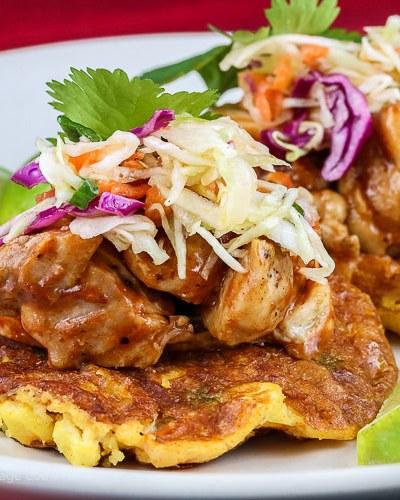 BBQ Chicken Tamale Corn Pancakes (Gluten-Free)