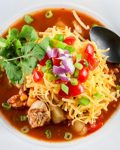 Instant Pot Chicken Enchilada Soup (Gluten-Free)