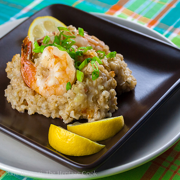Baked Shrimp and Rice Casserole © 2018 Jane Bonacci, The Heritage Cook