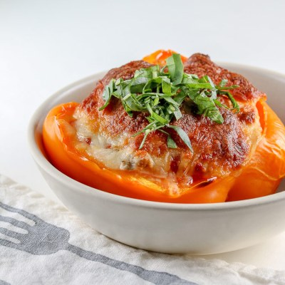 Lasagna Stuffed Peppers (Gluten Free)