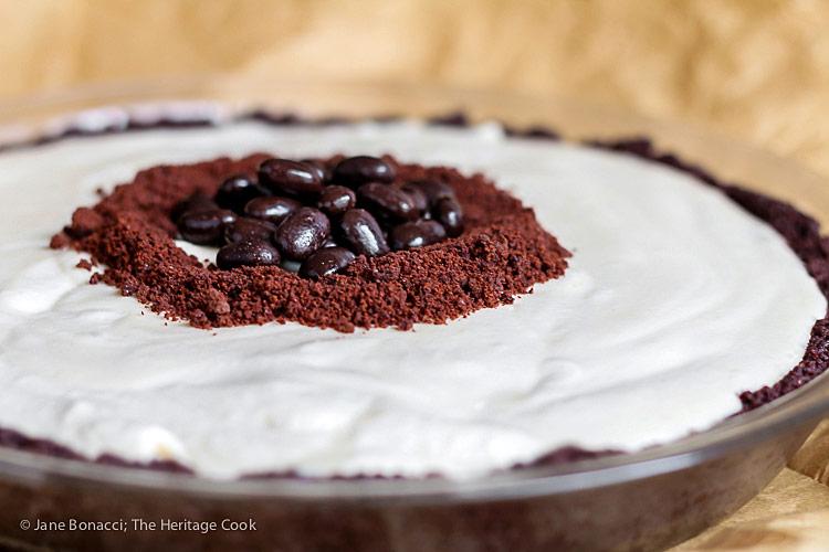 Kahlua Cream Pie with Chocolate Cookie Crust © 2016 Jane Bonacci, The Heritage Cook