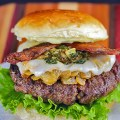 BBQ Green Chile Bacon Burgers © 2018 Jane Bonacci, The Heritage Cook