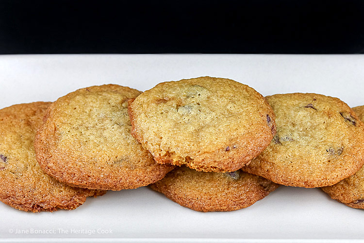 Vanilla Kissed Chocolate Chip Cookies (Gluten Free) © 2018 Jane Bonacci, The Heritage Cook