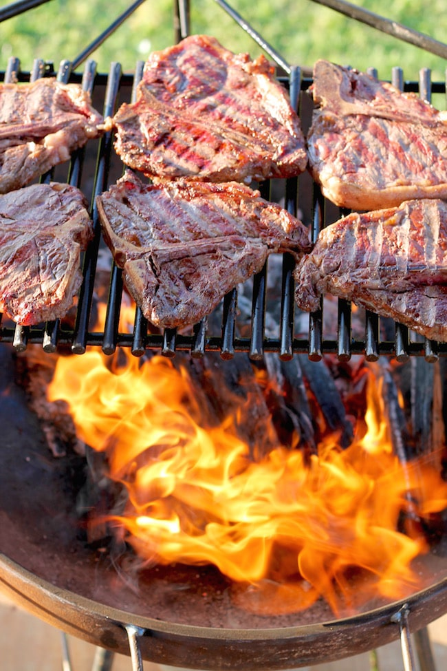Wood Fired Grilled Steaks; The 16 Best BBQ Recipes; compiled by Jane Bonacci, The Heritage Cook 2018
