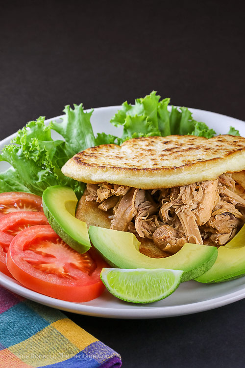Instant Pot Chicken Filled Arepas © 2018 Jane Bonacci, The Heritage Cook