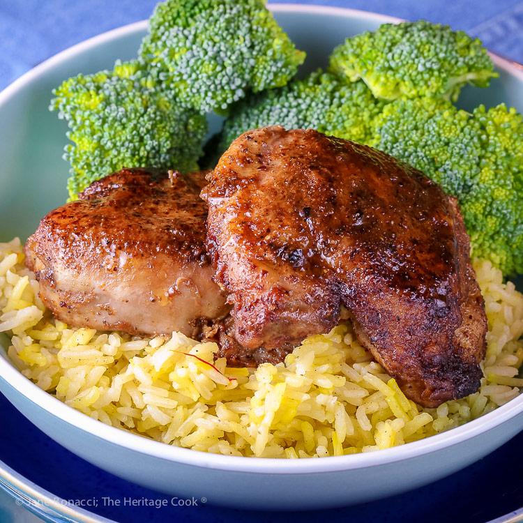 Gluten Free Mediterranean Chicken Dinner © 2018 Jane Bonacci, The Heritage Cook
