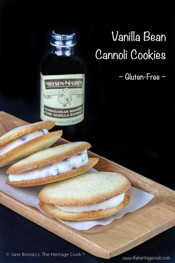 Vanilla Bean Cannoli Cookies (Gluten-Free) © 2018 Jane Bonacci, The Heritage Cook