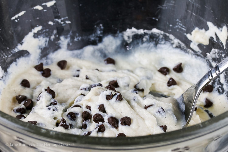 cannoli ricotta filling for the Vanilla Bean Cannoli Cookies (Gluten-Free) © 2018 Jane Bonacci, The Heritage Cook