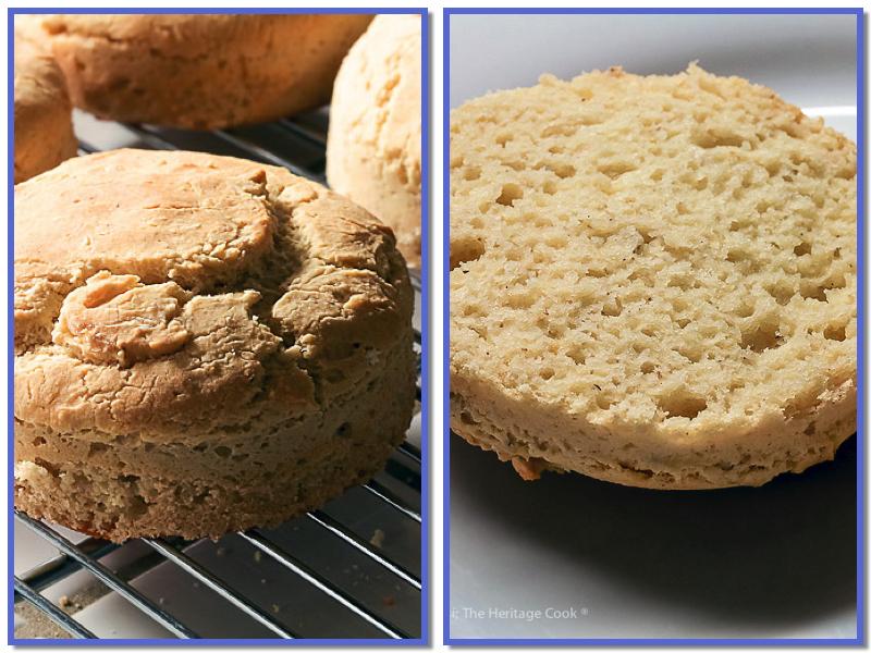 whole hamburger bun and split bun showing crumb; Classic Sloppy Joes (Gluten Free) © 2018 Jane Bonacci, The Heritage Cook