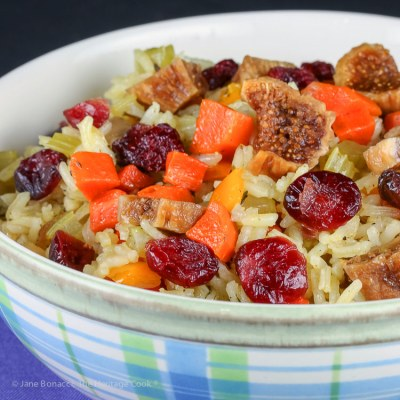Fig and Cranberry Rice Pilaf (Gluten Free)