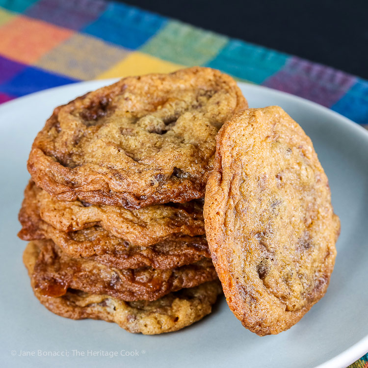 Butterfinger Chocolate Chip Cookies © 2018 Jane Bonacci, The Heritage Cook