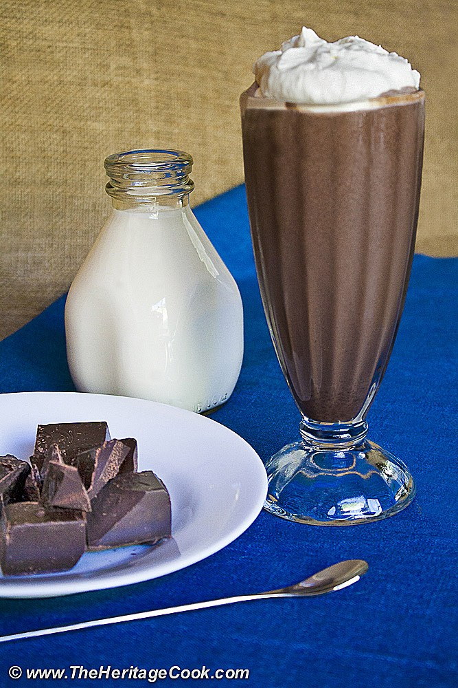 Ultimate Chocolate Milkshake; Collection of 6 Incredible Chocolate Beverages compiled by Jane Bonacci, The Heritage Cook