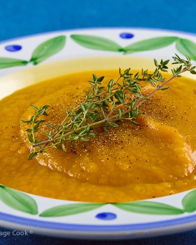 Instant Pot Spicy Butternut Squash Soup © 2018 Jane Bonacci, The Heritage Cook