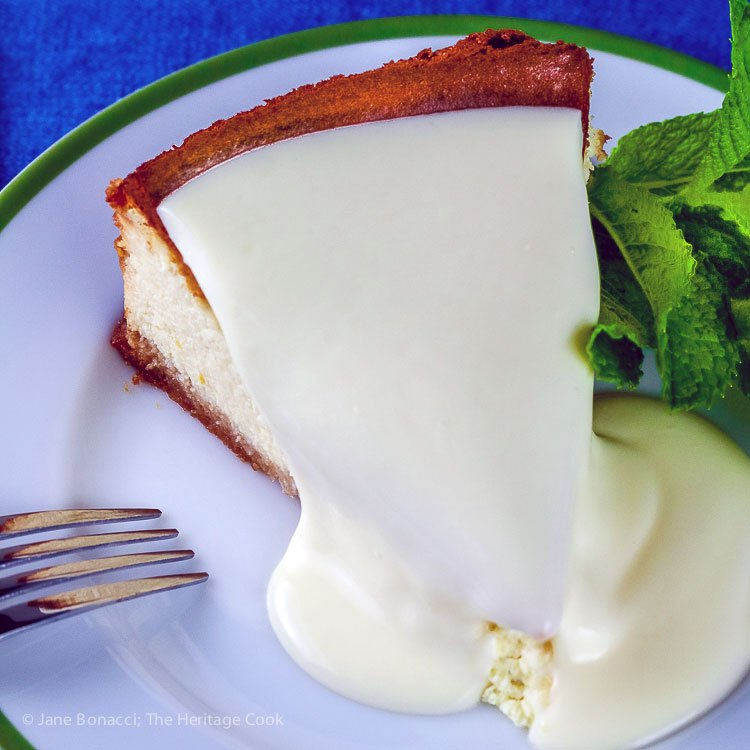 Gluten Free Classic Cheesecake; The Top Baker's Dozen Recipes of 2018 collection; Jane Bonacci, The Heritage Cook