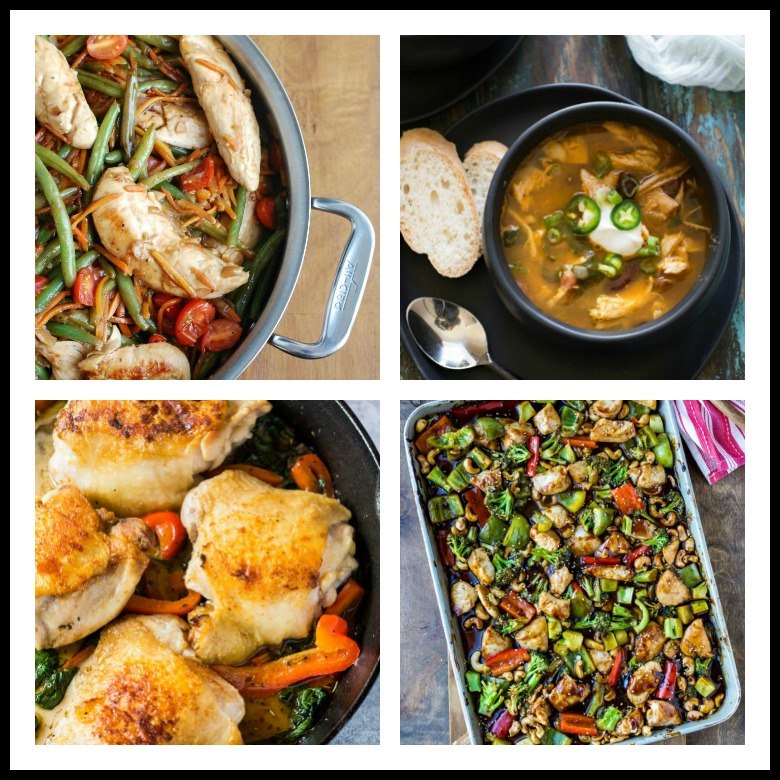 Collection of Healthy Chicken One Pot and Sheet Pan Dinners assembled by Jane Bonacci, The Heritage Cook 2019