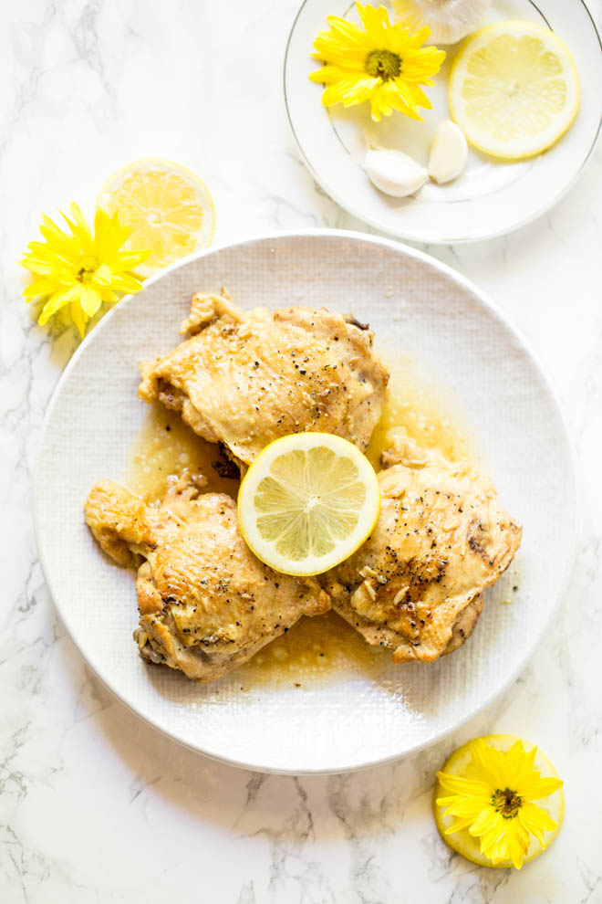 Lemon Garlic Butter Chicken; 15 Great Chicken Recipes collection, compiled by Jane Bonacci, The Heritage Cook
