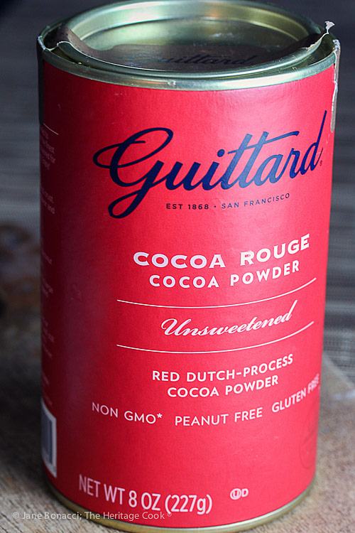 Guittard's Cocoa Rouge; Secret Ingredient Crispy Chocolate Cookies © 2019 Jane Bonacci, The Heritage Cook