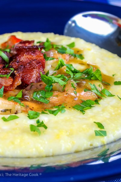 Southern Shrimp and Grits © 2019 Jane Bonacci, The Heritage Cook