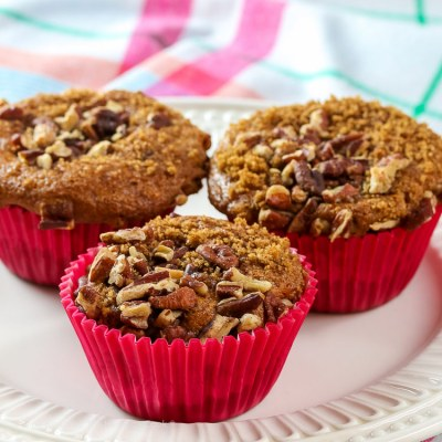 White Chocolate Coffee Cake Muffins (Gluten Free)