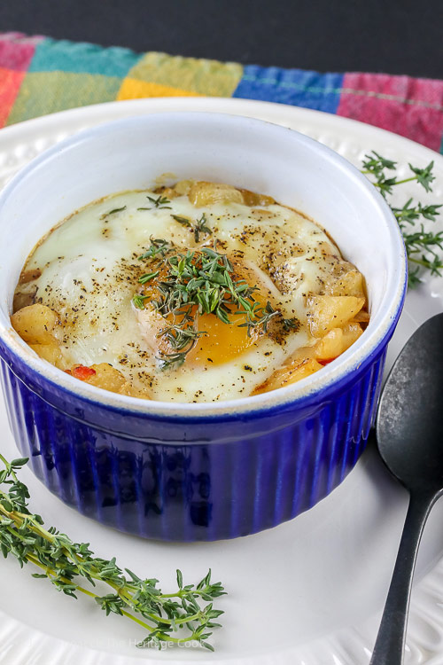 Provencal Baked Eggs and Potatoes (Gluten Free)
