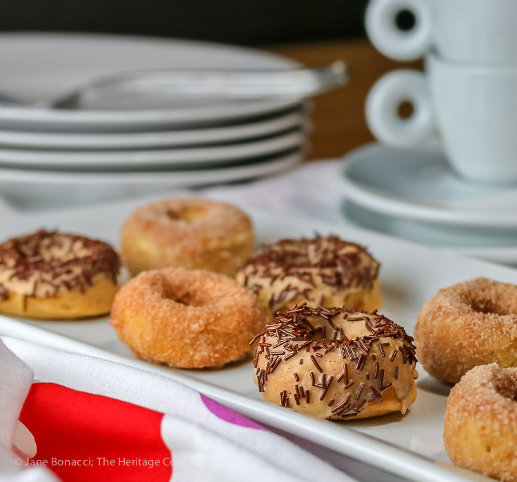 Vanilla Donuts with White Chocolate Glaze © 2019 Jane Bonacci, The Heritage Cook