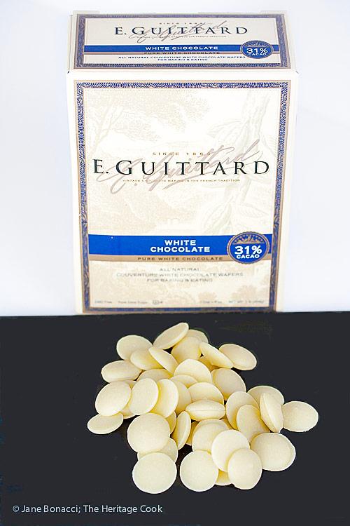 Guittard white chocolate is the best! Gluten Free White Chocolate Rice Pudding © 2019 Jane Bonacci, The Heritage Cook